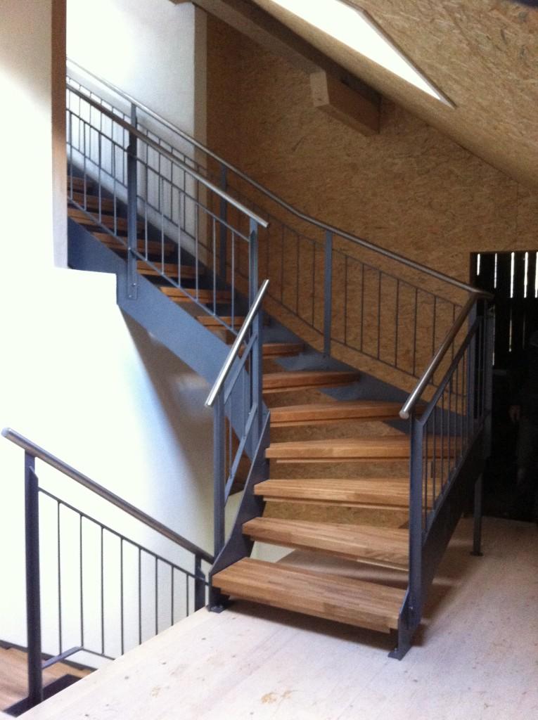 Escalier en quart tournant