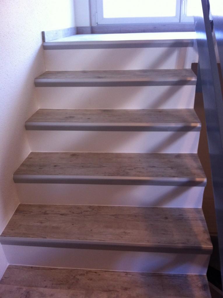 Restauration escalier avec vinyle