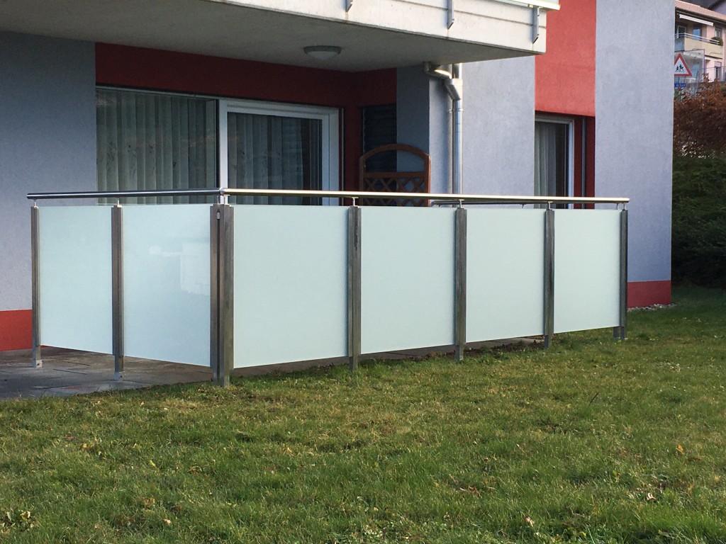 barrière inox et verre
